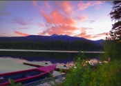 Fire in the Sky, Omineca Lodge , Fort St James  BC