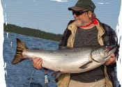 Bert's Salmon 30.9 lbs  Campbell River BC